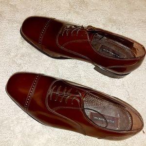 Florsheim 10 Dress Shoes Men Brown Genuine Leather